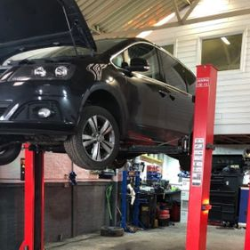 car getting an MOT