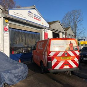 Rac van outside garage